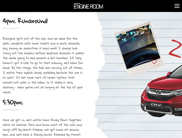 Text Over Media section from THE CIVIC Our Honda hero through the years, by Honda UK