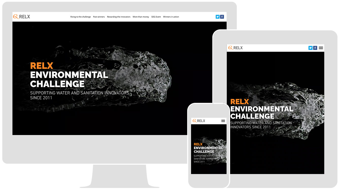 RELX Environmental challenge, by RELX, renders responsively across all devices